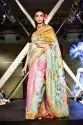 Silk Linen Digital Print Saree