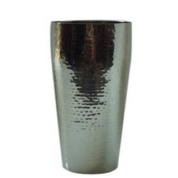 SS Hammered Lassi Glass