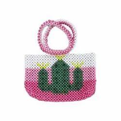 Cactus Tropical Design Colorful Fashion Accessory Luxury Handmade Beaded Handbag