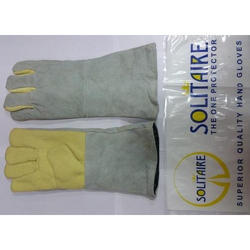 Solitaire Kevlar Palm Leather Gloves
