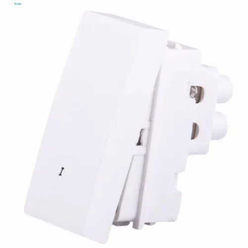 Finolex White Modular Electrical Switches, Switch Size: 1 Module, 220-240 V
