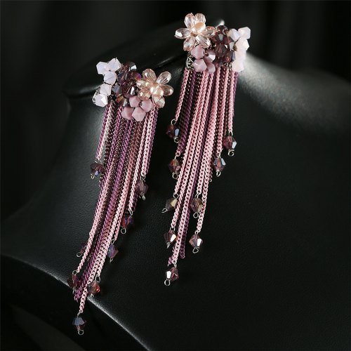 9c4dc252bf8 Jewels Pink Tassel Earrings