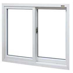 White LG Hausys UPVC Glass Window