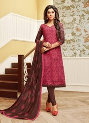 Printed Cotton Casual Wear Churidar Suit