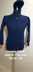 Women's Sweatshirt Zip Hoodie