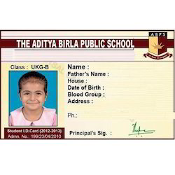 School ID Card Printing Service
