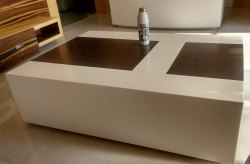 LG Hi Macs Acrylic Solid Surface Residence Center Table Top