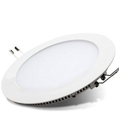 Cool White 10 W Round LED Panel Light, IP Rating: IP55