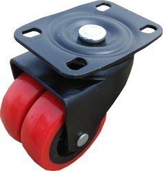 Double Wheel Caster Plate Type