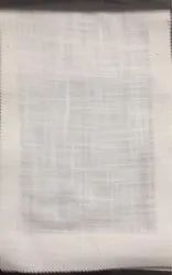 White Linen Curtains Fabric, GSM: 50-100, Thickness: 1