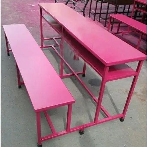 Capella Pink School Desk Wooden, Pink Metal School Desk
