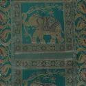 Maroon Elephant Brocade Bolster Cover