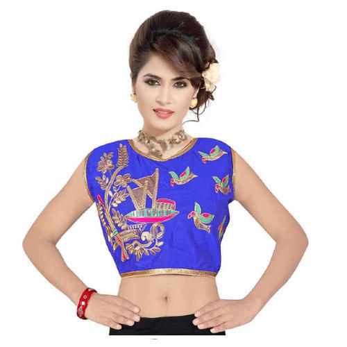 Printed Ladies Sleeveless Blouse S-16