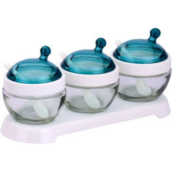 blue elegant glass bowl set