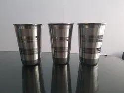 Maple Silver S S Glass, Mirror Polish, for Restaurant