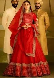 Elegant Red Bridal Lehenga Choli
