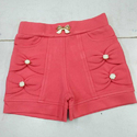 Lycra Cotton Casual Wear Girl's Hot Pant