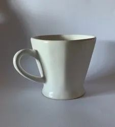 White Ceramic Tea Cup White 65 mL Print Tea Stall