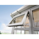 Timbe Upvc Top Hung Casement Window, Glass Thickness: 5 Mm