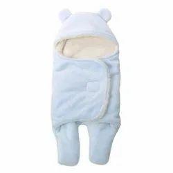 Little Cubs Blue Baby Blanket Cum Sleeping Bag