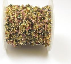 Multi Tourmaline Cluster Chain