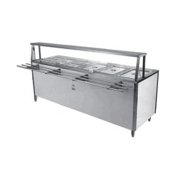 Bain Marie Counter with Sneeze Guard