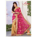 Traditional Embroidery Party Wear Saree, Length: 5.5 M