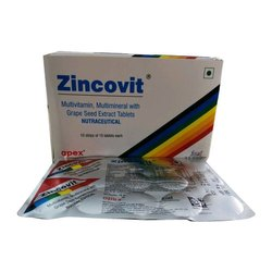 Zincovit Multimineral With Grape Seed Exact Nutraceutical Tablets, Packaging Type: Box