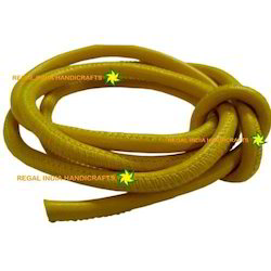 Yellow Round Stitched Leather Cord