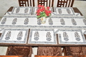 Indian Cotton Hand Block Table Runner Set