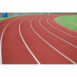Red Running Track Flooring
