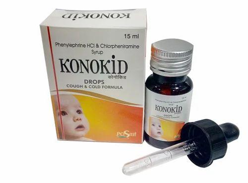 Anticold Drugs - Phenylephrine, CPM, Paracetamol Syrup Manufacturer