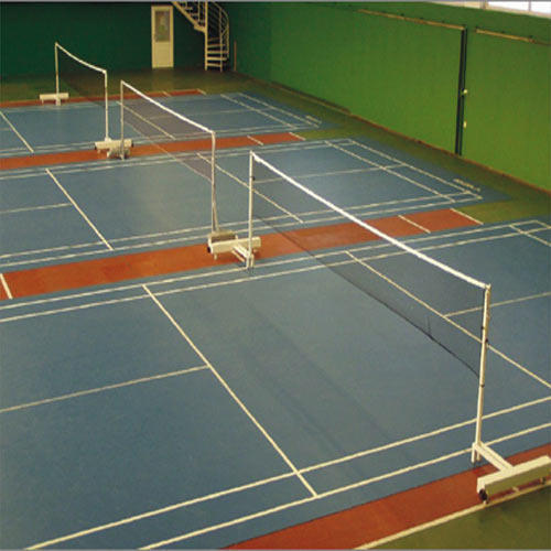 Indoor Badminton Court Synthetic Flooring Length Upto 44 Feet Rs