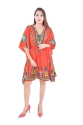 Cotton Poncho Fashionable Caftan Dress