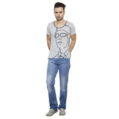Blue Mens Blue Slim Fit Denim Jeans