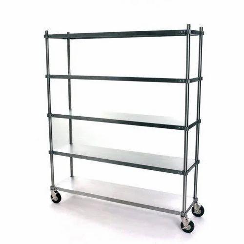 Silver Commercial Kitchen Storage Rack