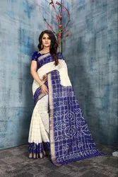 Pure Cotton Bandhni Saree