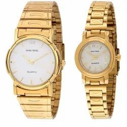 White Dial Analogue Couple Watch, Model: 1730