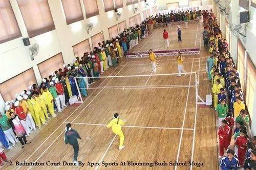 Indoor Badminton Court Maple Wood Sports Flooring