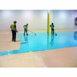 500 Square Feet Industrial Epoxy Flooring Service in Residential Building, Thickness: 0.5 mm