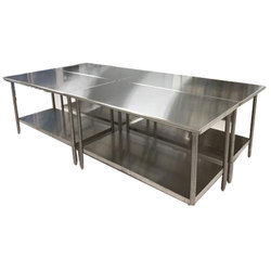 Silver Stainless Steel Kitchen Table, For Home, Restaurant