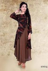 Brown Color Party Wear Kurti