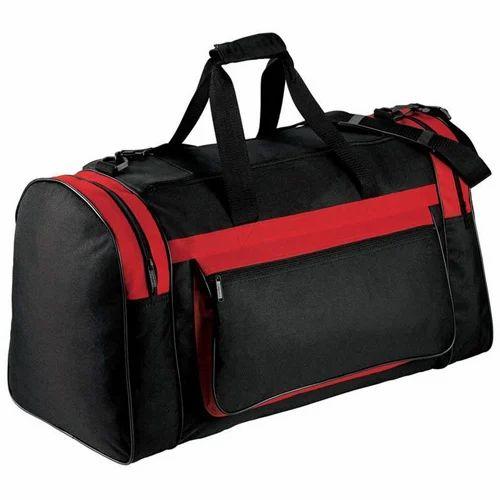 Black And Red Plain Duffle Bags 2cf2443995772