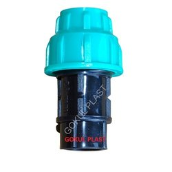 GOKUL Green And Black Pp Female Threaded Adapter (fta), for WHOTER PIPE FITTING, Size: 1/2