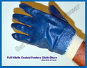 White Shell With Blue Nitrile Dipped Glove