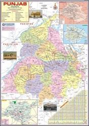 Punjab For Political State Map