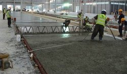 Gray Finish Truss Screed Concrete Flooring, Thickness: 4-8 Inches