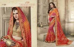 Designer Bandhej Saree