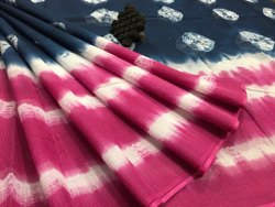 Tie Dye Printed Kota Cotton Saree