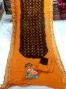 Pure Cotton Hand Bandhani Saree